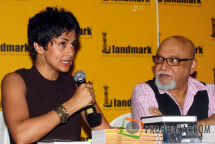 Gul Panag and Pritish Nandy at the Book launch of &#039;The Quest for Nothing&#039; held at Landmark Infinity Mall Andheri on 12.Oct.2010