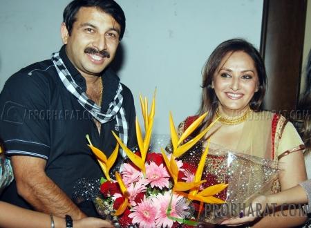 Manoj Tiwari and Jaya Prada