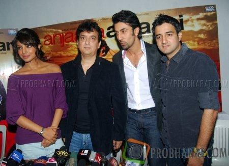 Priyanka Chopra, Sajid Nadiadwala, Ranbir Kapoor and Siddharth Anand