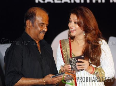 Rajinikanth and Aishwarya Rai Bachchan
