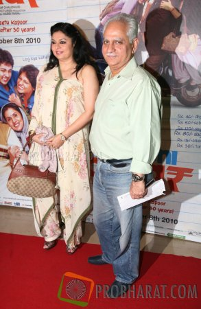 Ramesh Sippy With Wife Kiran Juneja