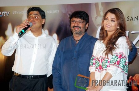 Ronnie Screwvala, Sanjay Leela Bhansali and Aishwarya Rai