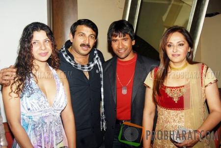 Sambhavna Seth, Manoj Tiwari, Nirahua and Jaya Prada