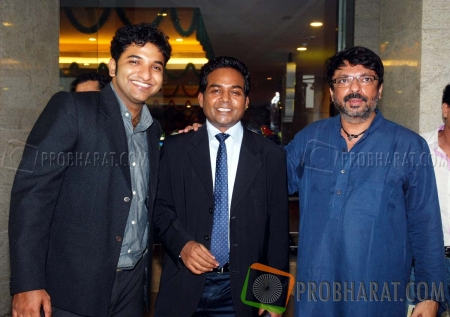 Anish Shetty, Girish Wankhede and Sanjay Leela Bhansali