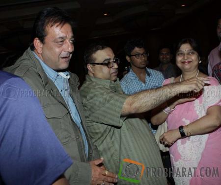 Sanjay Dutt and Rajkumar Santoshi